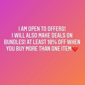 OPEN TO OFFERS!💕🧡❤️🤩